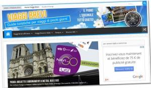 La homepage di Viaggi-Brevi.com