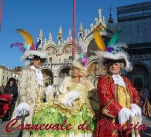 Tipiche maschere del Carnevale di Venezia