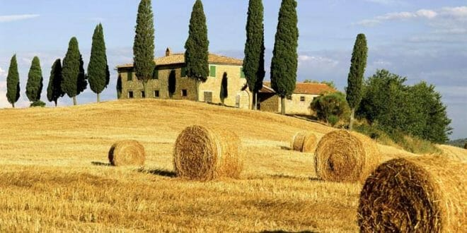 Panorama della campagna Toscana