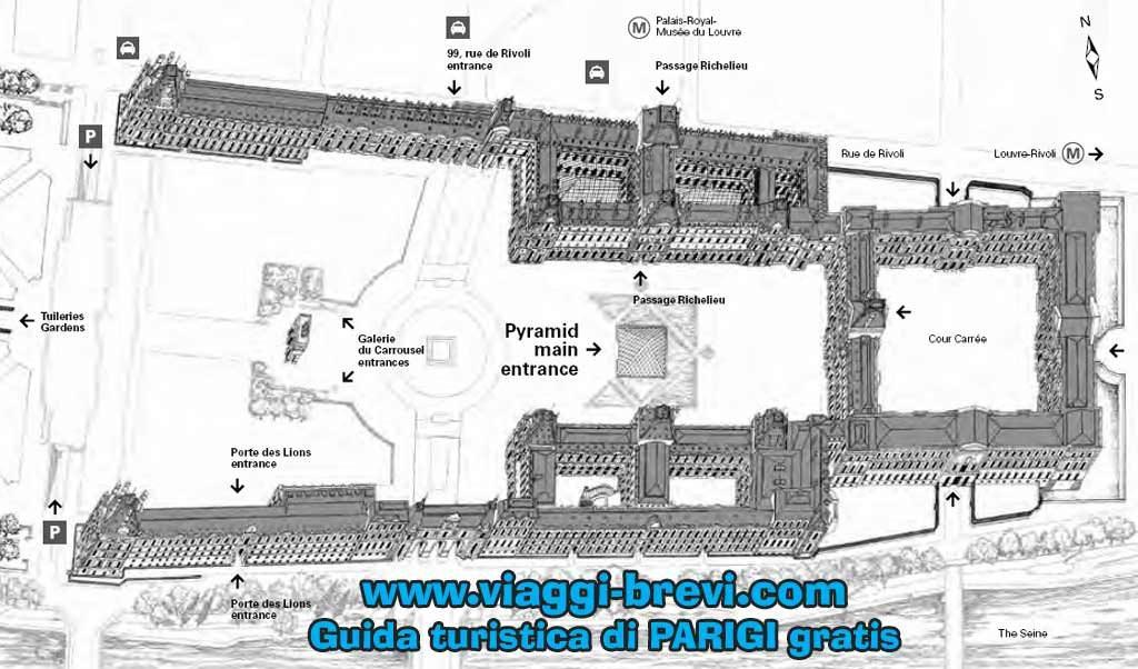 Louvre: la mappa del museo