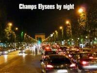Champs Elysees di notte