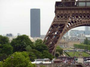 Dettaglio di Parigi con la torre Eiffel