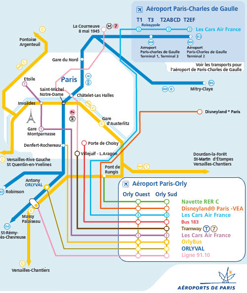 Parigi Cartina Aeroporti.Parigi Collegamenti Centro Aeroporti Prezzi Linee 2021