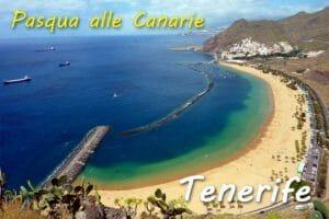 Pasqua su una spiaggia delle Canarie