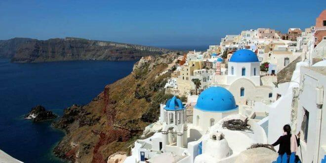 Un fantastico panorama della Grecia: Santorini