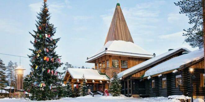 Rovaniemi Lapponia Babbo Natale.Viaggio A Rovaniemi Lapponia Finlandia Villaggio Di Babbo