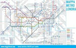 Mappa metro Londra