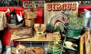 Portobello Road Market, oggetti in vendita