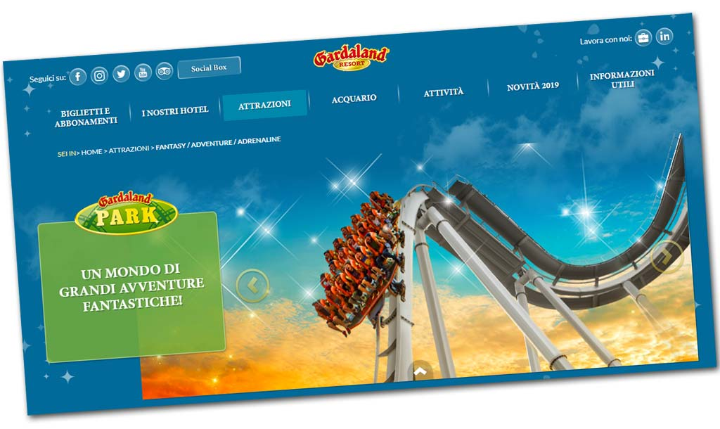 Parco Gardaland Orari Prezzi Dei Biglietti Hotel E Attrazioni 2019