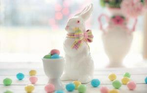 Buona Pasqua, coniglietto ceramica
